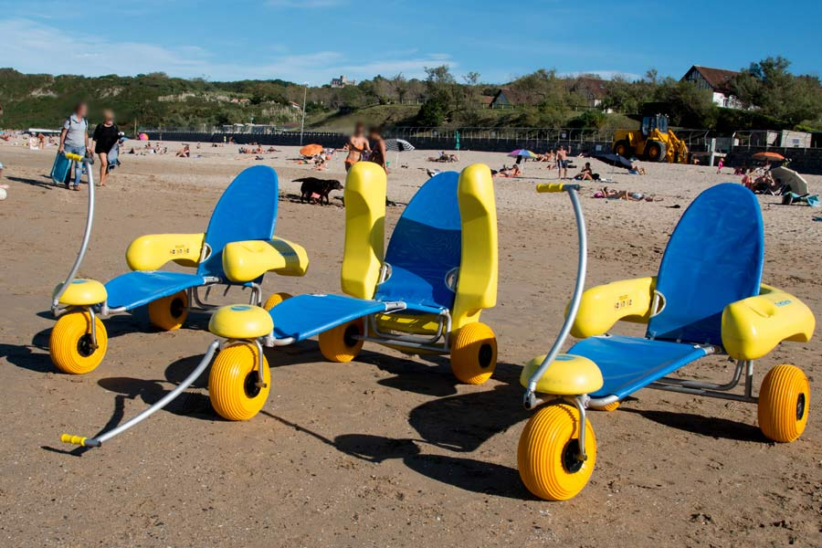 Sedia mare spiaggia per disabili BluBeach