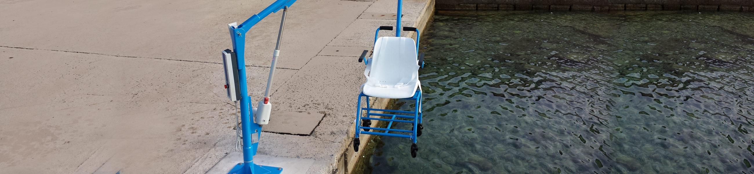 sollevatore fisso disabili piscina