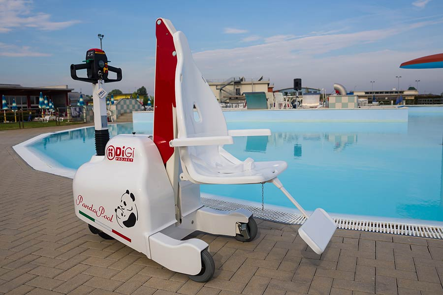 sollevatore da piscina per disabili pandapool