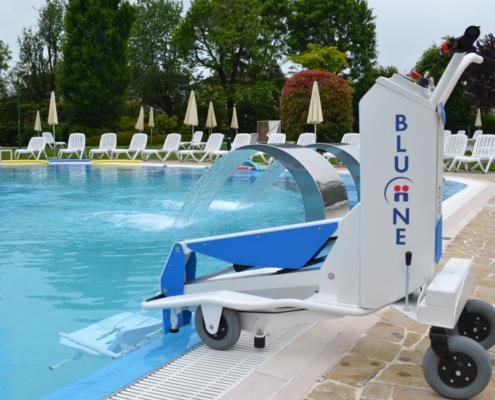 Sollevatore piscina disabile